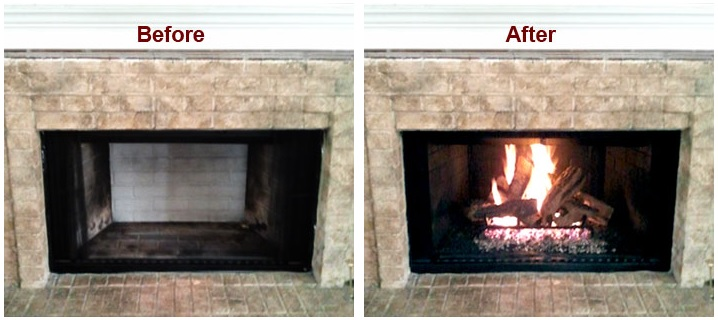 Atlanta Chimney Sweeps - convert your wood burning fireplace into a convenient and efficient gas unit with gas log sets.
