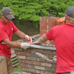 dawsonville ga chimney specialists repairing a cracked chimney