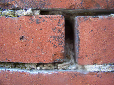 Cracked Mortar Joint